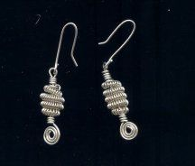 Earrings with a Celtic Coil