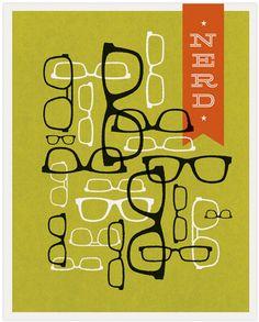 Nerd -Vintage poster