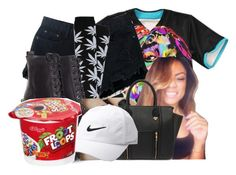 """""""Mehhhhh...I Don't Like Dis"""" by maryjanetower ❤ liked on Polyvore featuring Retrò, HUF, Jeffrey Campbell, Yoki and Nike Golf"""