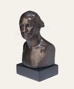"""First President Of USA George Washington Bust 9/""""H Figurine Historical Sculpture"""