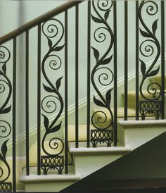 Graceful curling ironwork - LOVE this!