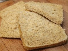 """Dukan microwave """"bread"""" and FrenchToast recipes- This honest to goodness actually reminds me of real bread. I also made mine square. I think this might be the way I do my daily oat bran from now on. It's a bit more work, but the results are worth it."""