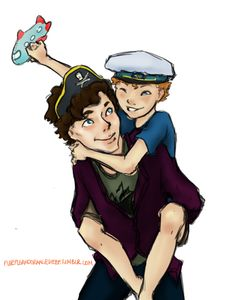 Sherlock and Martin. Kid!Cabinlock. Brilliant, meretricious and a happy new year!