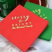 Custom Printed Christmas Party Napkins