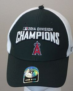 Just $19.99 !! Los Angeles Angels 2014 Div Champs Baseball Cap Embroidered NEW/NWT 1 Sz 47 Brnd #47Brand #LosAngelesAngels