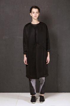 Long black foam trench | Adelina Ivan Studio