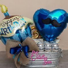 Birthday Bouquet, Diy Birthday, Birthday Parties, Birthday Gifts, Bouquet Box, Candy Bouquet, Balloon Bouquet, Candy Gift Baskets, Candy Gifts