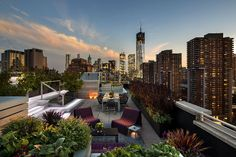 Home Decor Garden Scenic Green Roof Plants Or Pleasant Green Roof Landscaping With Amazing Furnitures Patio Decor Also Nice Sunset Views As Gardening Party Design Amazing Rooftop Garden Beautiful Decorations How To Build A Rooftop Garden