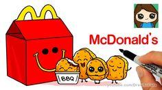 draw kawaii happy meal mcdonalds easy cartoon chicken drawing tekeningen fat clipart drawings transparent mcdonald nugget schattige desenhos pt dibujos
