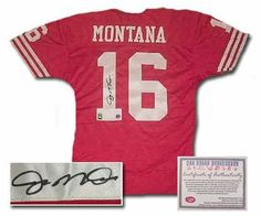 Joe Montana San Francisco NFL Hand Signed Authentic Away Red Football Jersey Autographed Jerseys This is an Authentic Style San Francisco Red Jersey hand signed by Joe Montana. When the going got tough, the San Francisco - Read Product Details . Niners Girl, Super Bowl Wins, Forty Niners, Joe Montana, Joe Cool, San Francisco 49ers, Football Jerseys, Nfl, Scarlet