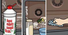 Uunin puhdistus onnistuu ilman turhaa jynssäystä ja tehokkaita pesuaineita muutaman kikan avulla. Lue Meidän talon vinkit.