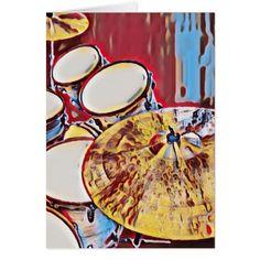 Drummer Birthday Card Drum Musician Greeting Card - diy cyo customize personalize design