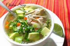 How to make Caldo de Pollo Recipe│Mexican Chicken Soup - Mexican Chicken Soup Authentic Mexican Recipes, Healthy Mexican Recipes, Mexican Cooking, Authentic Food, Soup Recipes, Chicken Recipes, Cooking Recipes, Chayote Recipes, Family Recipes