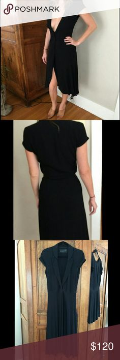 Reformation Black Midi Sydney Dress Size M Ref black Sydney Dress in size M. Blazer style, great for layering with a cute slip underneath.  I have this green and wear it all the time! This one is just a bit too loose on me. Excellent condition,  no flaws.  #reformation #freepeople #brandy Melville #ofloveand and lemons #urban outfitters Reformation Dresses Midi