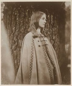 Julia Prinsep Jackson (1846-1895) . This photograph of Virginia Woolf's mother was taken when she was ten years old and reveals her legendary beauty. She later became a model for Pre-Raphaelite painters, such as Edward Burne-Jones.    Reproduction of plate 31a from Leslie Stephen's Photograph Album  Original: albumen print (11.3 x 9.4cm.)  Mortimer Rare Book Room, Smith Co