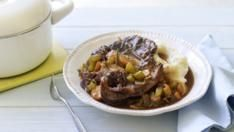 Beer braised shin of beef with creamy mash