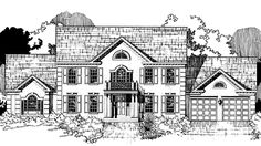 Eplans Colonial House Plan - Five Bedroom Colonial - 3031 Square Feet and 5 Bedrooms from Eplans - House Plan Code HWEPL72493