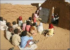 School in Abu Shouk refugee camp, near Al-Fashir, Darfur, Sudan.