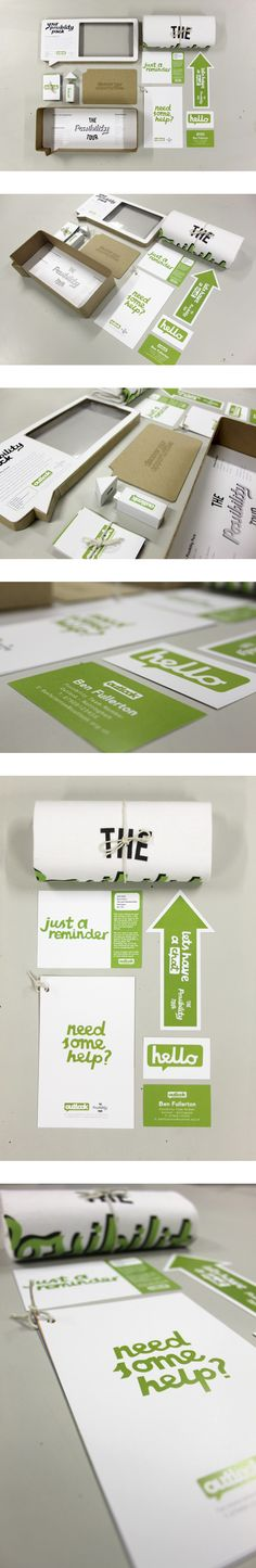 Outlook & The Possibility Tour Branding by Benjamin Fullerton, via Behance