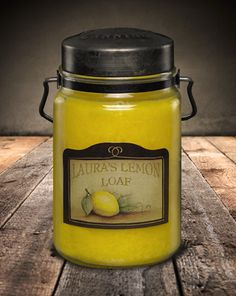 Classic Jar Candle-26oz-LAURAS LEMON LOAF-Scented Candles - McCall's Candles