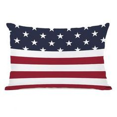 American Flag Throw Pillow I