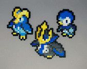 Piplup | Prinplup | Empoleon | Pokemon | Perler Bead | 8bit | Nintendo | Sprite |