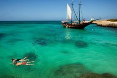 snorkeling at boca catalina, aruba