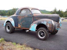 41 Willys Gasser   Hot Rod e Kustom: Willys Coupe 41, Gasser car.