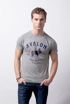 Avalon grey tee