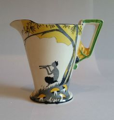 Independent Art Deco Burleigh Ware Dragon Jug Figural Jug Super Item Circa 1920s Cool In Summer And Warm In Winter Pottery & China