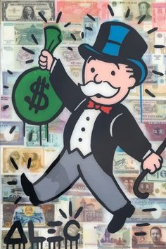 Alec Monopoly, Money Over Money, 2016, Avant Gallery