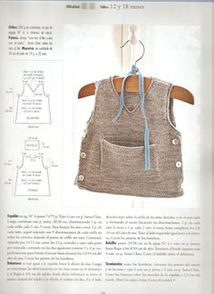 Tausend Dinge im Kofferraum: Ärmel mit Babytasche - Bebé Baby Boy Knitting, Baby Knitting Patterns, Knitting Designs, Free Knitting, Crochet Baby, Knit Crochet, Baby Boy Sweater, Baby Boy Vest, Knit Vest Pattern
