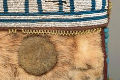Antique Native American Beaded Pouch, Athapaskan, Mid-19th Century | 1stdibs.com