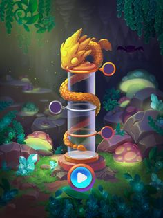 project Dragonoid (MidgameLab) on Behance Game Concept, Concept Art, Gui Interface, Button Game, Fantasy Art Landscapes, Art Deco Illustration, Illustrations, Dragon Games, Cartoon Background