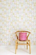 "Majvillan Wallpaper Company brings us this nordic geometric children's wallpaper ""Alice"" in soft pink, yellow, grey & creamy white. Non-Woven Wallpaper (paste the wall) Washable & Eco-Friendly Roll Size: x Repeat: Straight Match Nursery Wallpaper, Kids Wallpaper, Alice, Wallpaper Marvel, Wallpaper Companies, Pastel Palette, Waste Paper, Wallpaper Paste, My Secret Garden"
