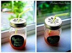 DIY personalised cocktail jars!  Found on Weddingbee.com