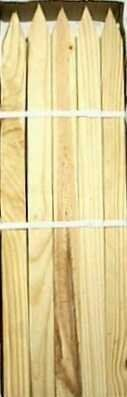 "Thunderbird Forest 309566 1"" x 2"" x 24"" Wood Stakes (25 Pack) by Thunderbird Forest Products. $16.80. Thunderbird Forest 309566 1"" x 2"" x 24"" Wood Stakes (25 Pack) Thunderbird Forest 309566 1"" x 2"" x 24"" Wood Stakes (25 Pack) Features: Softwood mixed species with pine, spruce, and fur For general purpose staking 25 per bundle 24"""