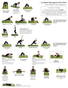 I've started yoga, makes my back feel so much better. Yoga for Happy Hips - a MUST for runners, rowers, riders, anything that tightens your hip flexors! Fitness Del Yoga, Sport Fitness, Fitness Tips, Health Fitness, Tai Chi, Yoga Sequences, Yoga Poses, Ayurveda, Yoga Musica