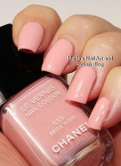 Chanel Beige Rose 655 Nail Polish Blog, Chanel Nail Polish, Chanel Nails, Nail Art Blog, Nail Polish Colors, Nail Polishes, Super Cute Nails, Pretty Nails, Les Nails