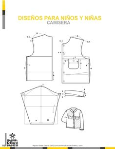 Manual de patronaje CMT - SENA Pattern Making Books, Pattern Books, Baby Patterns, Dress Patterns, Sewing Patterns, Pattern Drafting Tutorials, Modelista, Mode Masculine, Pattern Cutting