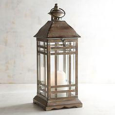 Patina Small Metal Lantern Brown