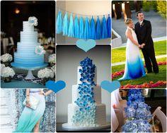 blau torte hochzeit  elegant style 2013 Tischdekro