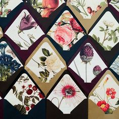 """""""We've made creating envelope liners super easy + all these #botanical and #floral liners (45 total!) cost less than $14 (@papersource envelopes not…"""""""