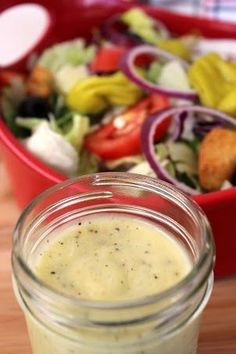 Olive Garden Salad Dressing recipe. This recipe is spot on! I've been looking for this recipe forever! This is going into my favorites file!