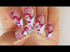 Floral Nail Art Design Tutorial - YouTube