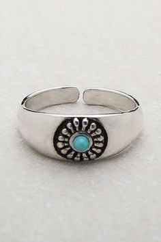 Turquoise toe ring.. So different then all plain old toe rings