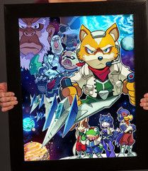 Star Fox by Nagano, Star Fox 64, Viewtiful Joe, Fox Mccloud, Fox Games, Wolf, Video Game Art, Video Games, Retro Poster