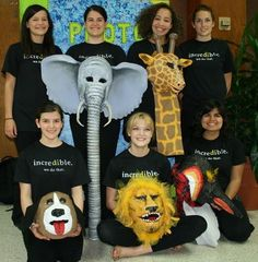 destination imagination props | ... Destination ImagiNation team pose with masks they use to tell their