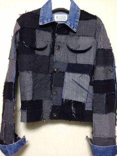 マルタンマルジェラ 0 10 アーティザナル レア artisanal patchwork denim jacket...