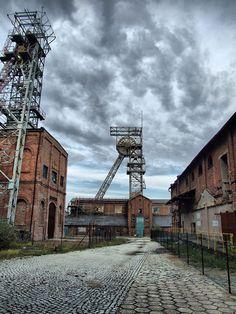 Kopalnia w Rybniku, Old mine in Rybnik-Niewiadom, Poland industry